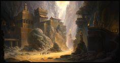 ArtStation - Mountain fortress, Alexey Shugurov  inspiration for hollow mountain / new home