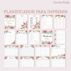 Life Planner Printable Big Happy Planner Inserts Daily Planner Insert Floral Planner 2020 Planner To Do List Family Planner, Budget Planner, Blog Planner, Life Planner, Happy Planner, Planner Journal, Daily Planner Pages, Daily Planner Printable, Agenda Planner