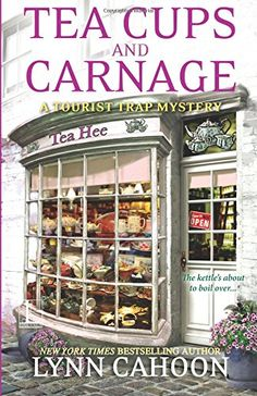 Tea Cups and Carnage by Lynn Cahoon https://www.amazon.com/dp/1601836325/ref=cm_sw_r_pi_dp_K1uHxbEBV50EF