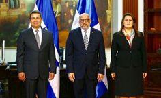Marino Berigüete presenta cartas credenciales ante el presidente de Honduras