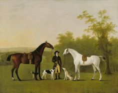 Two Hunters: 'Prophet' and 'Surprise' John Boultbee (Osgathorpe 1753 – Liverpool 1812)