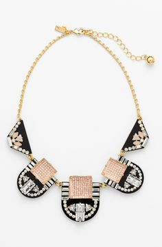 Kate Spade statements - love the aztec vibe on this piece.