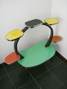 German Plant Stand Table Atomic Space Age Mid Century Modern Vtg Eames Era | eBay