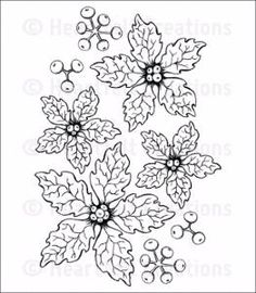 Pre-order Heartfelt Creations Sparkling Poinsettia Cling Stamp