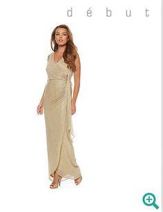 Debenhams Debut Maxi Gold Dress