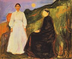 The Athenaeum - Mother and Daughter (Edvard Munch - )