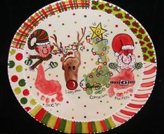 Cute Personalized Christmas Plate!