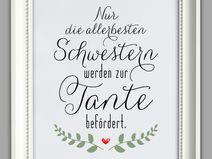 """""""BESTE TANTE"""" Kunstdruck, Geschenk"""