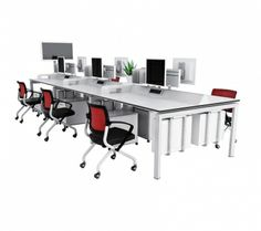 The workstation is made from powder coated aluminium and is available in customised modules to suit your needs.
