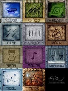 These Are The Symbols For Each Hidden Village In Naruto An Anime