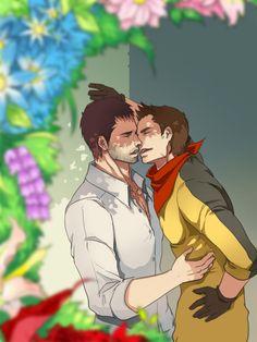 [Resident Evil Valentine Day by eilinna on DeviantArt Resident Evil Game, Sterek, Crossover, Videogames, Manga Anime, Horror, Fan Art, Deviantart, Character