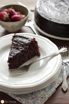 Grain-Free Chocolate Cake#LiveSimply  #TheNourishingHome