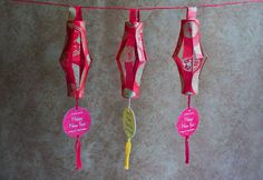 Chinese New Year lanterns - I may have to try this next year.