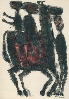 Paris: Editions Poésies (The Common Man) by Jean Dubuffet (French best known for founding the art movement 'Art Brut' Illustrations, Illustration Art, Art Informel, Jean Dubuffet, Henri Fantin Latour, Tachisme, Art Brut, Outsider Art, French Artists