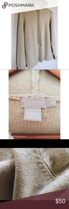 J. Crew Wool Hoodie This sweater is good condition, light wear. Size small J. Crew Sweaters