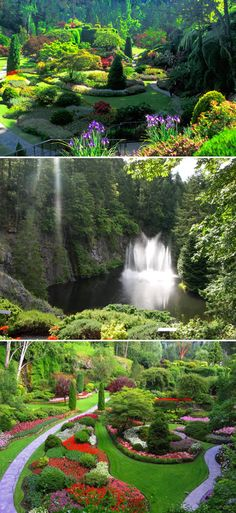 Butchart Gardens, British Columbia, Canada, is one of the most famous gardens in the world which is counted among the best of the best.