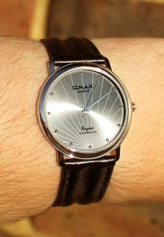 Omax Radiant Silver Watch