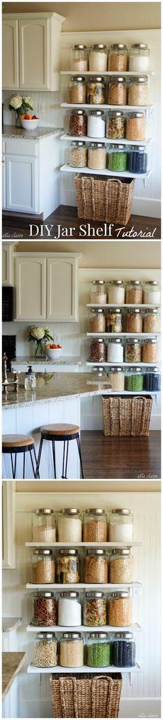 Jar Shelf Tutorial DIY