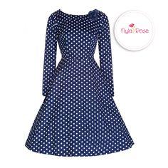 8c87478aea05 Lindy Bop 'Maggie' Gorgeous Inspired Polka Dot Jaunty Jive Dress in blue
