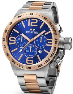 TW Steel Watch Canteen 45mm #bezel-fixed #bracelet-strap-rose-gold-pvd #brand-tw-steel #case-material-rose-gold-pvd #case-width-45mm #chronograph-yes #classic #date-yes #delivery-timescale-4-7-days #dial-colour-blue #gender-mens #movement-quartz-battery #official-stockist-for-tw-steel-watches #packaging-tw-steel-watch-packaging #style-sports #subcat-canteen #supplier-model-no-twcb143 #warranty-tw-steel-official-2-year-guarantee #water-resistant-100m