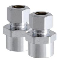 """LDR 537 7502 Female Adapter, Chrome Plated, 3/8"""" x 5/8"""", Card of 2"""