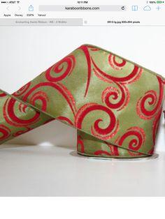 Christmas ribbon Christmas Ribbon, Christmas 2019, Swirls, Sunglasses Case, Ideas