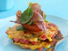 Corn and capsicum fritters, corn recipe, brought to you by Woman's Day