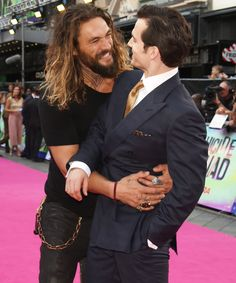 Our New Favorite Bromance: See Game of Thrones's Jason Momoa Sneak Up on Henry Cavill from InStyle.com