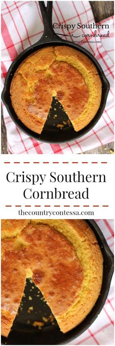 that crispy crust on your cornbread? This is a great recipe for the southern classic.Love that crispy crust on your cornbread? This is a great recipe for the southern classic. Southern Cornbread Recipe, Southern Recipes, Cornbread Recipes, Skillet Cornbread, Cornbread Mix, Southern Food, Aunt Jemima Cornbread Recipe, Homemade Cornbread, Southern Dishes