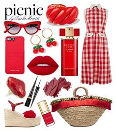 """""""Picnic Style by Paola Moretti Paola"""" by paola-moretti on Polyvore featuring Christian Louboutin, Lowie, Valentino, Dolce&Gabbana, MICHAEL Michael Kors, David Yurman, Estée Lauder, Anne Sisteron, J.Crew and Lime Crime"""