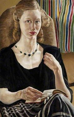 'Daphne Spencer (b.1932)' (1951) by English painter Stanley Spencer (1891-1959). Oil on canvas, 92.3 x 61.6 cm. Collection: National Museums Northern Ireland. via BBC