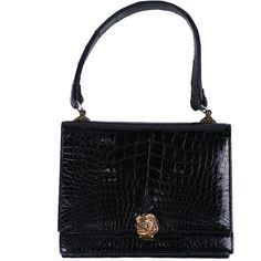 Pre-owned Alligator Evening Bag ($575) ❤ liked on Polyvore