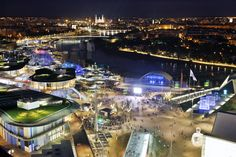 Espectacular vista nocturna de #Zaragoza