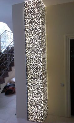 Metal laser cut light pillar