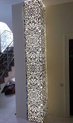 Metal laser cut light pillar