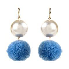 Pearl Pom Pom Earrings