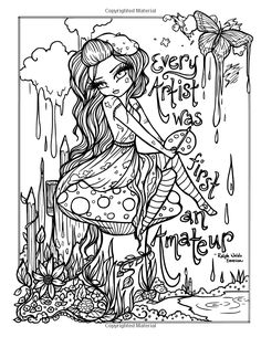 Coloring book: Free printable coloring pages of hannah Blank Coloring Pages, Fairy Coloring Pages, Halloween Coloring Pages, Printable Adult Coloring Pages, Coloring Books, Kids Coloring, Diy Collage, Hannah Lynn, Creation Art
