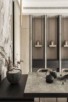 Gorgeous 53 Unordinary Dining Room Wall Cabinet Design Ideas To Copy Asap Niche Design, Shelf Design, Cabinet Design, Wall Design, Screen Design, Luxury Homes Interior, Modern Interior, Interior Architecture, Layout Design