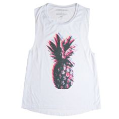 Pineapple Vibes Muscle Tank ($36) found on Polyvore