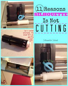 Just In Case - - - - Silhouette School: 11 Reasons Your Silhouette Is Not Cutting (or Not Cutting Completely) Silhouette School Blog, Silhouette Cutter, Silhouette Cameo Tutorials, Silhouette Cameo Machine, Silhouette Vinyl, Silhouette Portrait, Silhouette Projects, Silhouette Design, Silhouette Studio