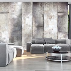"""gray striped walls Availability: on order Resistant, water-rejecting and scratch-proof fleece wallpaper """"Gray stripes"""". Wallpaper """"Gray stripes"""" with the inspiring motive will be an effective eye-catch for each interior. Gray Striped Walls, Grey Stripes, 3d Wallpaper Mural, Photo Wallpaper, Decoration Inspiration, Decoration Design, Deco Design, Industrial Wallpaper, Tile Panels"""