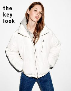 'Puffy' cropped quilted jacket. Discover this and many more items in Bershka with new products every week