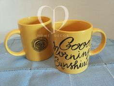 Couple of cups yellow
