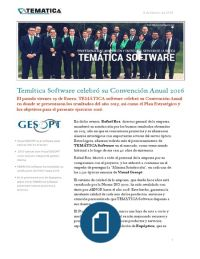 TEMATICA SOFTWARE celebró su Convención Anual 2016