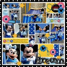 I always have WAY too many photos.  I like this idea -- great way to put a whole bunch on one page!                   Template Challenge 91: Dream - MouseScrappers - Disney Scrapbooking Gallery