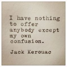 Jack Kerouac Quote Typed on Typewriter and Framed by farmnflea,