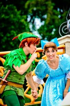 My dream is to be Wendy in Disney World... peter pan <3