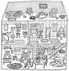 Dollhouse Coloring Pages | Coloring pages wallpaper