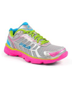 Look what I found on #zulily! Silver & Neon Green Memory Aerosprinter 2 Running Shoe #zulilyfinds