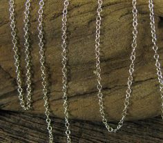 1.1mm Sterling Silver Beading Chain - Tiffany Cable Chain - 3 ft
